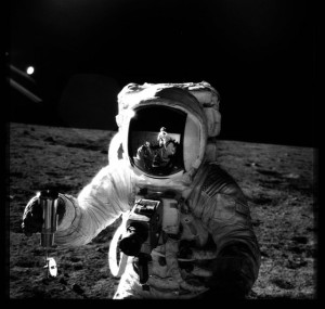 Hasselblad on the moon.