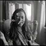 David Corio - Cassandra Wilson at her Harlem, NYC home on 2 March 1999 © David Corio Courtesy of Photochats