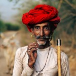 Steve McCurry - Rabari Shepherd, Rajastan, India, 2009  Steve McCurry Chris Beetles Fine Photographs
