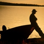 Aki Komulainen - The Fisherman - cheapest Kodak 400 slide film - Ranua  Simojärvi, Finland