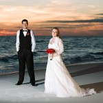 Christophe Zydek - Sunset wedding couple - Portra 160 - Destin, Florida