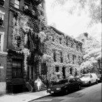 Darius Aidala - Overgrown Brownstone - 35mm B&W Infrared - New York City
