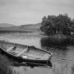Johnny Brian - Boats, Lake, Scottish Highlands - Kodak Tri-X - Scotland
