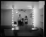 Name Clément Darrasse  Title Dressing Room  Film used Ilford HP5 4x5  Location Paris, Dressing room in Olympia music Hall.