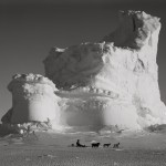 The Castle Berg with Dog Sledge, September 17 1911 © Scott Polar Research Institute, University of Cambridge./ Herbert Ponting/ Chris Beetles Find Photographs