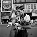Vivian Maier - Man with Pigeons, C. 1950 © Vivian Maier Chris Beetles Fine Photographs