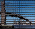 Thomas Kellner - New York, Skyline at Brooklyn Bridge, 2003 © Thomas Kellner