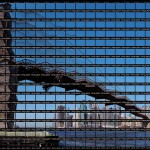 Thomas Kellner - New York, Skyline at Brooklyn Bridge, 2003  Thomas Kellner
