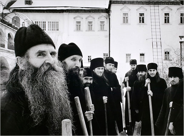 Russian Orthodox Monks, Zagorsk, 1958 - Cornell Capa:Magnum Photos, courtesy of the International Center of Photography