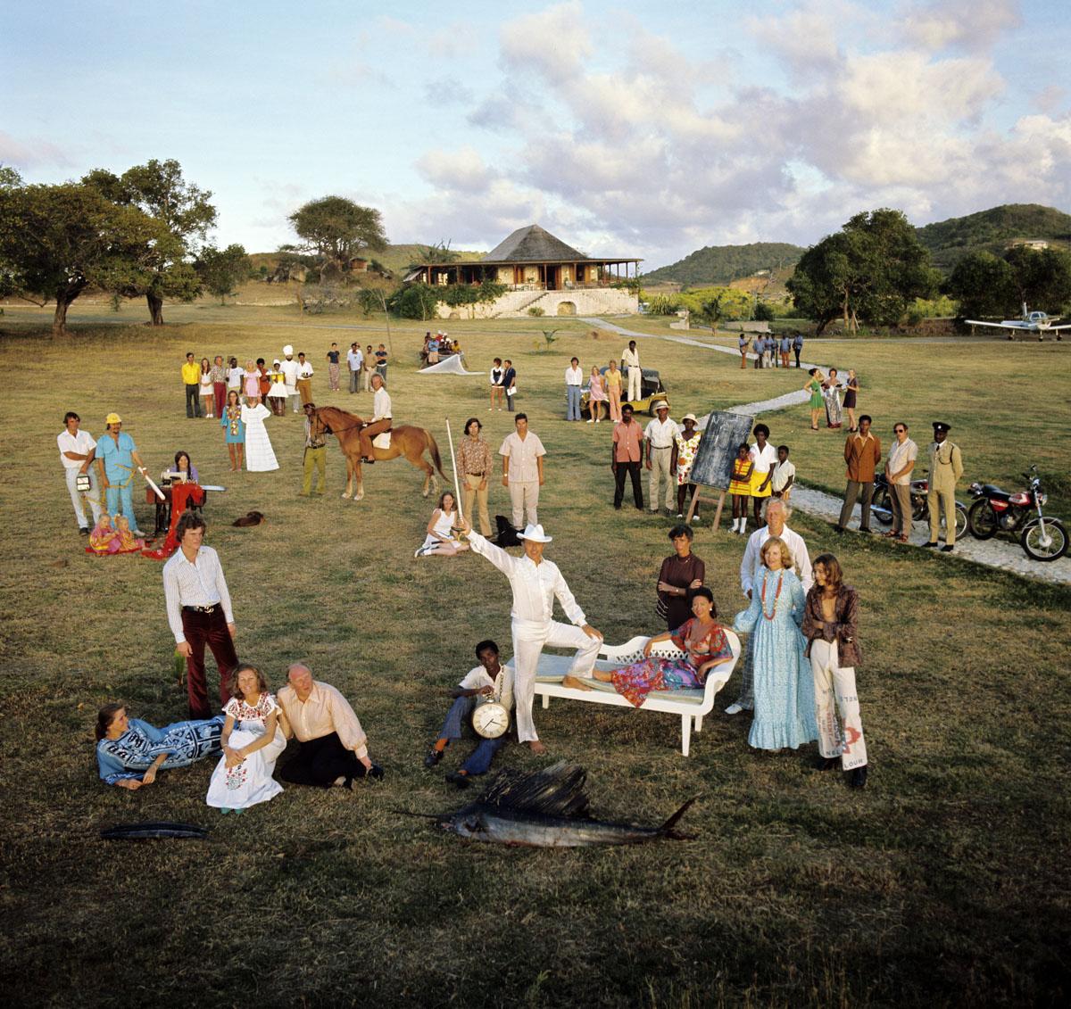 Patrick Lichfield - Mustique Group 1973 © Patrick Lichfield