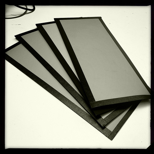 New55 FILM handmade samples (manufactured sheets will come 5 per box) © Bob Crowley