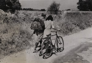 "Robert Capa (1913-1954) ""Lovers' Parting near Nicosia, Sicily"" July 28, 1943  silver gelatin print on glossy fibre paper, printed by August 20, 1943 Robert Capa © ICP / Magnum Photos Courtesy: Galerie Daniel Blau Munich/London"