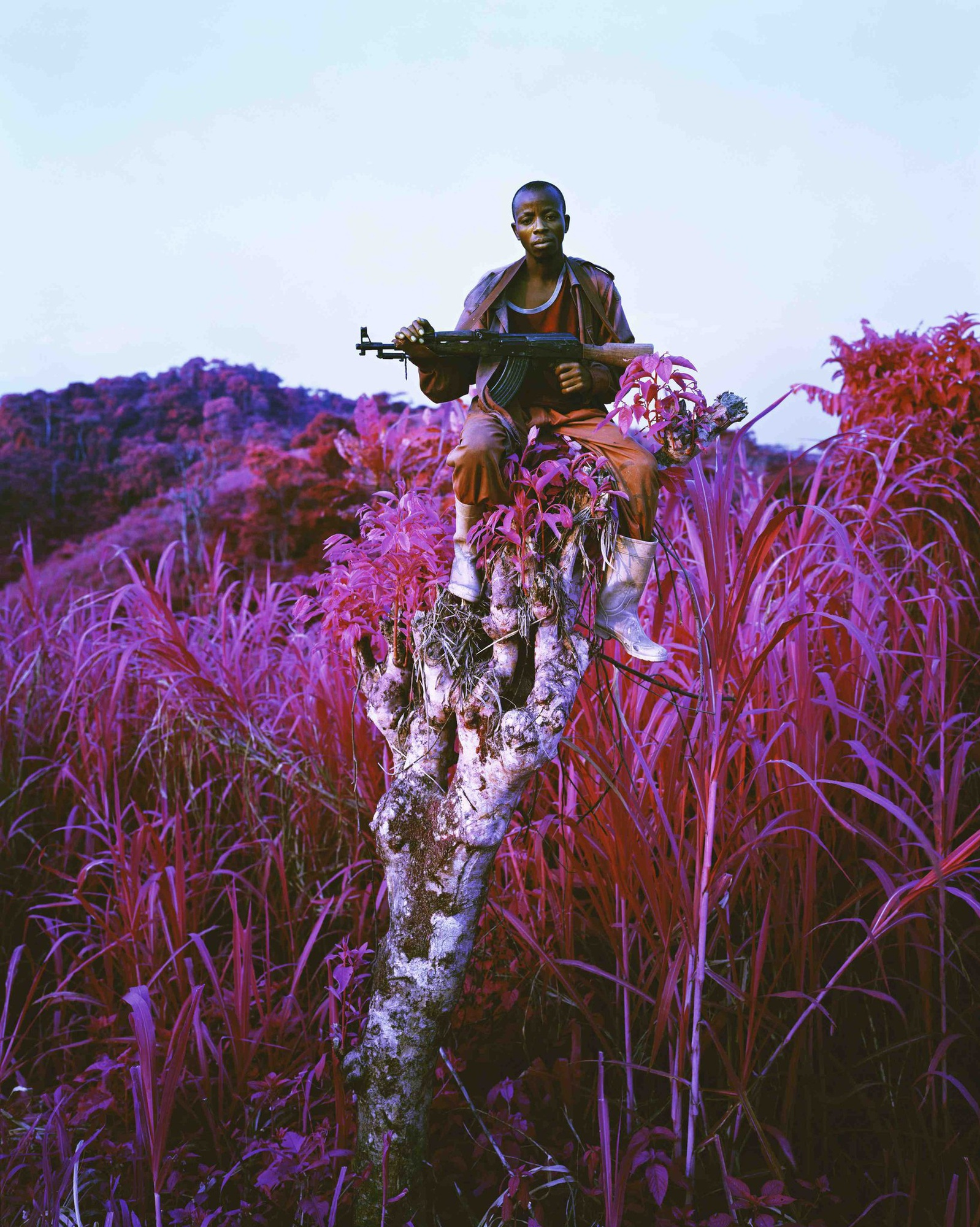 Richard Mosse - Higher Ground, 2012, C-print, 90 x 72 in. (228.6 x 182.9 cm.), Edition of 2 +1AP © Richard Mosse