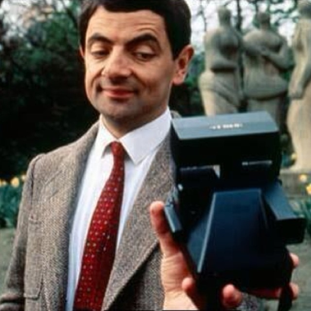 Classic.... 'The Man Who Invented the Selfie!' #filmsnotdead via  Polaroid Passion