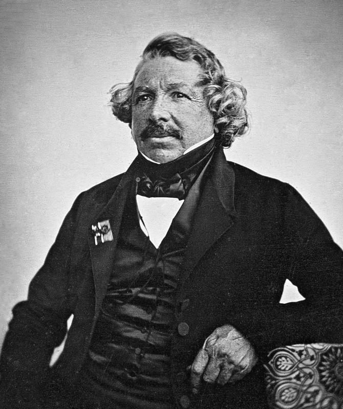 A portrait of Louis Daguerre