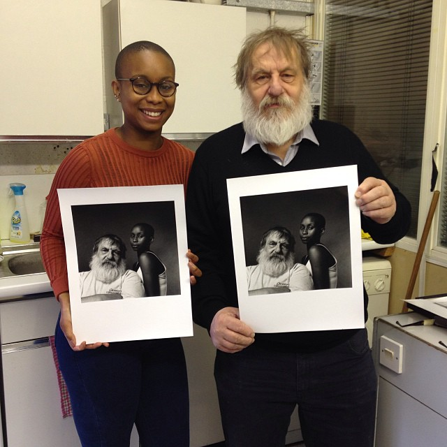 Happy days! Finally Klaus Kalde has printed this photo of @daley_mail and himself #Filmsnotdead