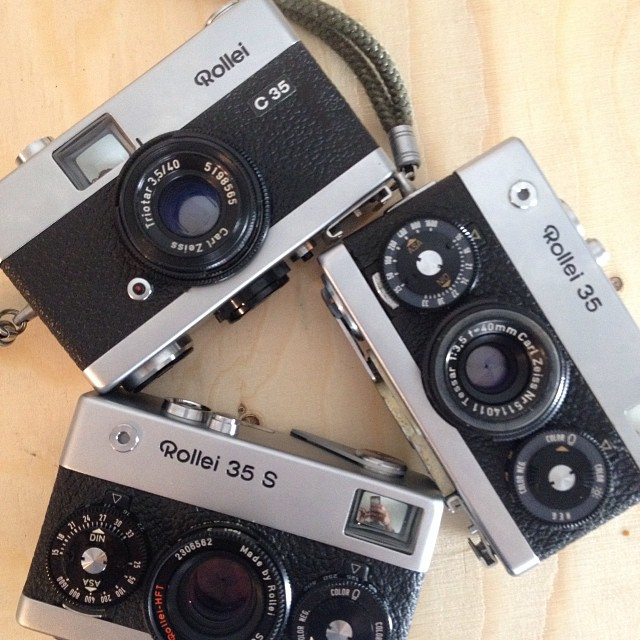 Rollei's!!!! These beauties can be found at our market stall in Brick Lane this weekend or on our website http://www.filmsnotdead.com/13mntpleasant/ #filmsnotdead