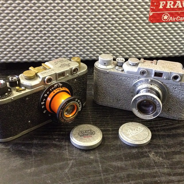 Leica copies gone a bit extreme!?! At MW Classic Cameras #Filmsnotdead #Leica