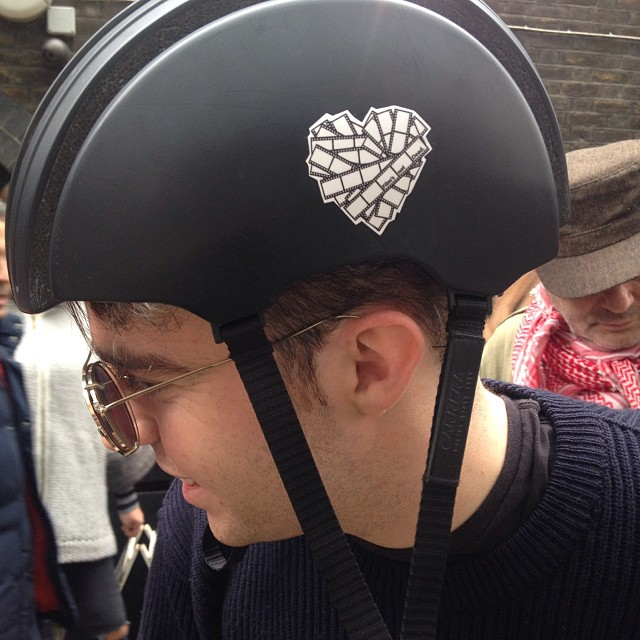 Alex representing the FND sticker on his helmet!!! #Filmsnotdead