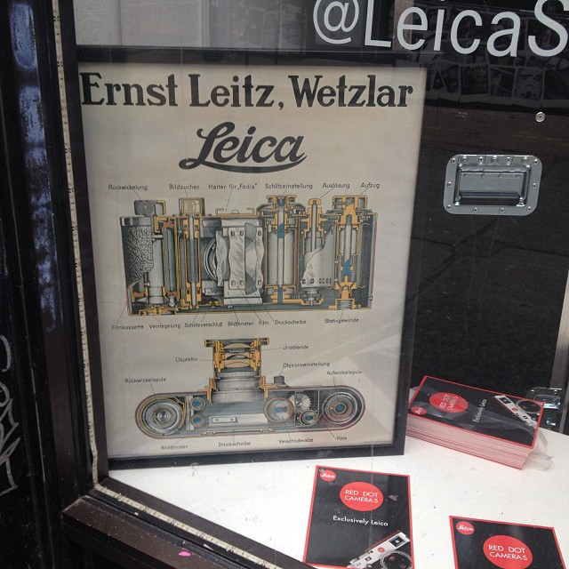 Inside a Leica poster! On show at the Leica Pop Up #Filmsnotdead