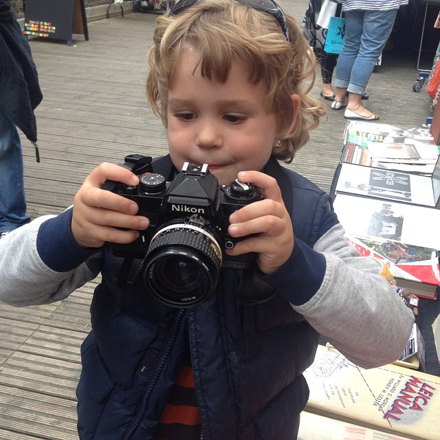 You know Film's Not Dead when you have kids as young as 4, like Leo here, keen on shooting with his dad's Nikon!!! #Filmsnotdead