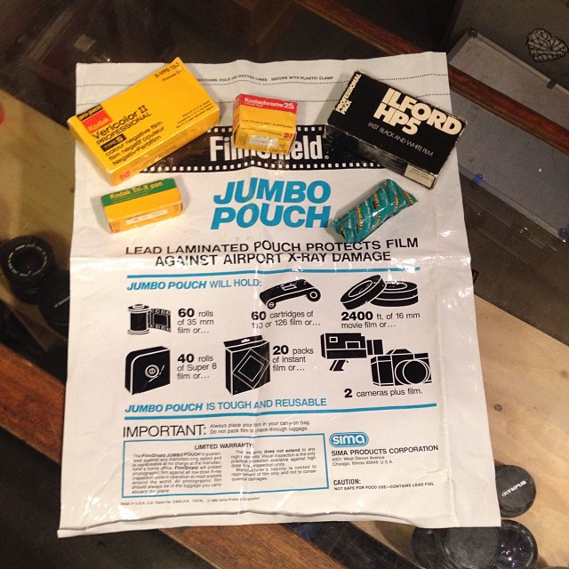 JUMBO POUCH to protect your film from those nasty X-rays! #Filmsnotdead