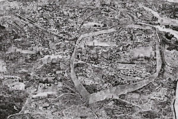 Diorama Map Jerusalem, 2012 – 2013 © Sohei Nishino, Courtesy Michael Hoppen Gallery