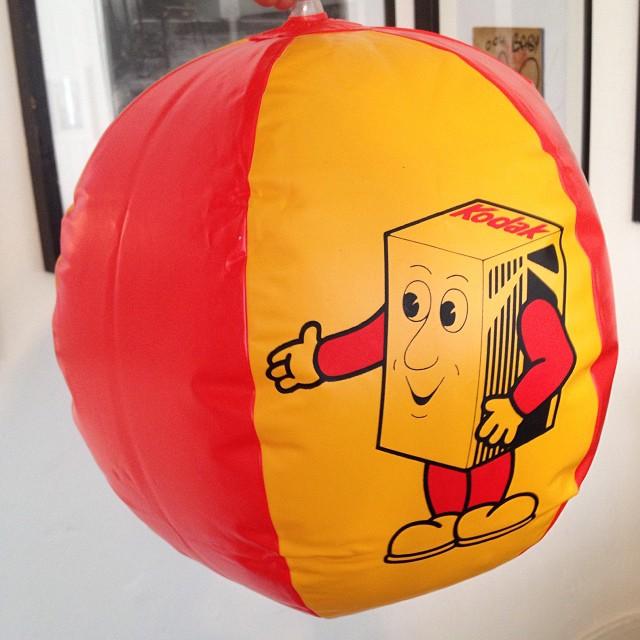 New addition to our Kodak memorabilia, a Kodak beach ball!  #Filmsnotdead @kodakcb