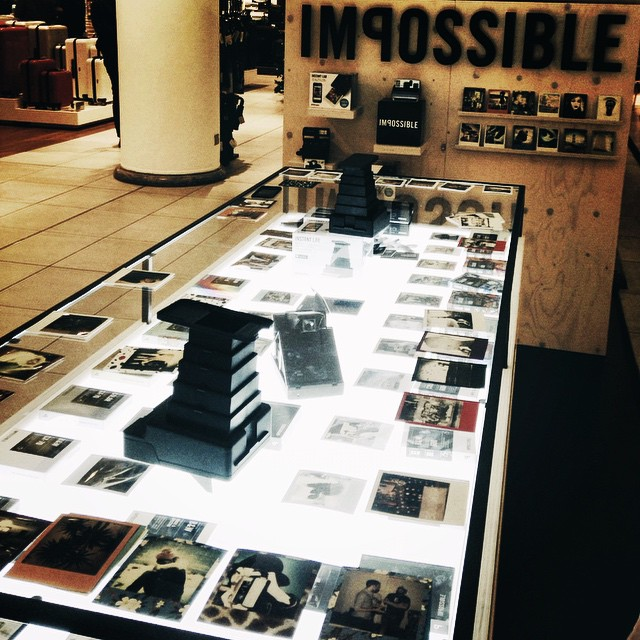 instant lovers, make sure you check the @impossible_hq pop up at Selfridges until January! #filmsnotdead