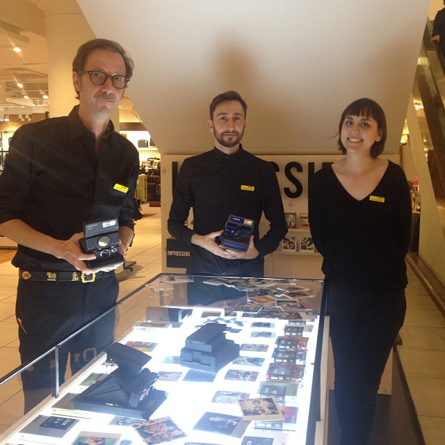 The wonderful team at the @impossible_hq pop-up store in Selfridges, Oxford St. London. Situated on the lower ground floor! #Filmsnotdead #Film