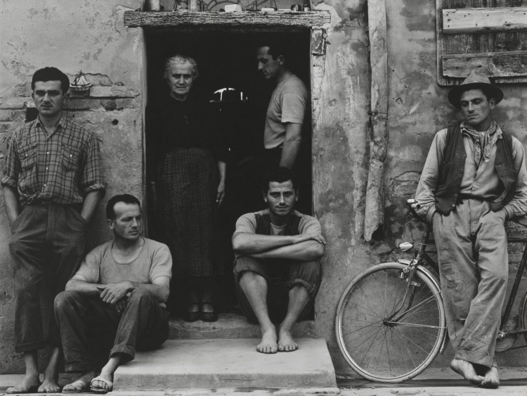 Italian job: the Lusettis in Luzzara, Italy, in 1953. Paul Strand Archive/Aperture Foundation